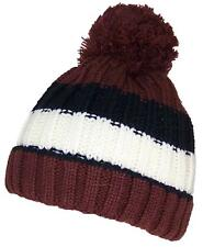 Best Winter Hats Baby Boys Stripe Cuffed Pom Cap Beanie #232 Brown/Black/White