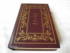 WORKS OF H. G. WELLS x5 Time Machine, War Worlds, Moreau, Invisible Man LEATHER!