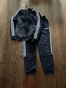 Women's black adidas hoodie track suit medium