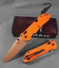 "Benchmade 915-ORG Triage Rescue Knife 3.5"" Satin Plain Blade, Orange G10 Handles"