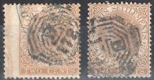 STRAITS SETTLEMENTS MALAYA 1867/72 STAMP Sc. 10/10a USED