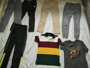 Boys size 14-16 (L) clothes~Lot of 7 Pcs~Summer~pants & shirts~EC~Nike &