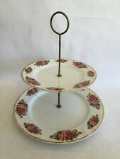 English Garden China 2 Tiered Serving Plates Robinson Design Group 1989