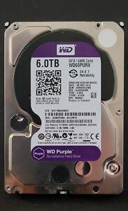 """Western Digital WD60PURX WD Purple 6TB 5.4K 3.5"""" SATA 6GBs 64MB Surveillance HDD"""