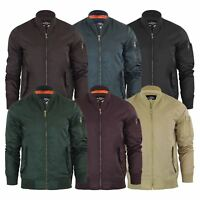 Brave Soul Oslo Mens Bomber Jacket Padded MA1 Flight Coat