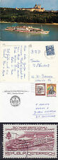 AUSTRIAN RIVER CRUISER MS THEODOR KORNER COVER COLOUR POSTCARD & USED STAMP