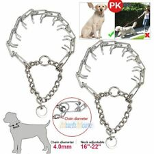 "2x Dog Training Choke Chain Collar Adjustable Metal Steel Prong Pinch 16""-22"" US"