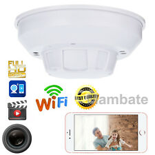 Mini 1080P HD SPY DVR Hidden IP Camera Smoke Detector Motion Detection Nanny Cam