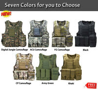 Military Vest Tactical Plate Carrier Police Airsoft Molle Assault Combat Plate