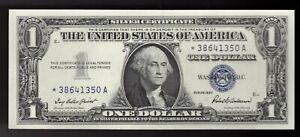 1957 Star Blue Seal One Dollar Note $1 Silver Certificates. ****STAR**** GEM UNC