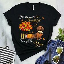 New listing Dachshund Pumpkin It's The Most Wonderful Time Of The Year Halloween Gift Tee