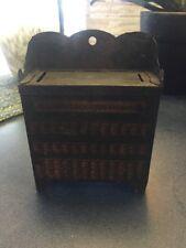 Antique Encyclopedic Dictionary Book Shelf Bank Tin Art-Nouveau Box RARE HTF