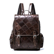 Vintage Women Genuine Leather Backpack Satchel School Bags Rucksack