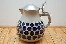 Keramikkrug Westerwald Jugendstil Grenzhausen Zinndeckel 2 Liter Krug