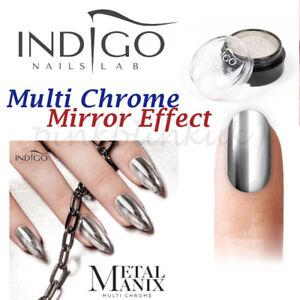 Indigo Metal Manix Multi Chrome Mirror Effect Nail Powder Mermaid Dust Art Gel