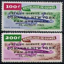 Guinea 1963 SG#409-410 Air Pan American To New York MNH Set #D58798