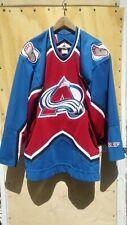 Colorado Avalanche Hockey Jersey Ccm Nhl Men's Size Xl Blue Maroon