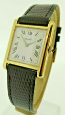PIAGET VINTAGE SWISS LADY'S 18ct GOLD TANK WATCH Ref 90800 Boxed SUPERB COND
