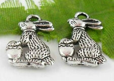 Free Ship 23Pcs Tibetan Silver(Lead-Free)Rabbit Charms Pendants 17.5x11mm
