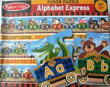 Melissa & Doug Alphabet Express Floor Puzzle 10 ft Long 27 pcs NIB New 3+