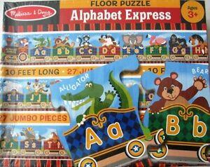 Melissa & Doug Alphabet Express Floor Puzzle 10 ft Long 27 pcs NIB New 3+