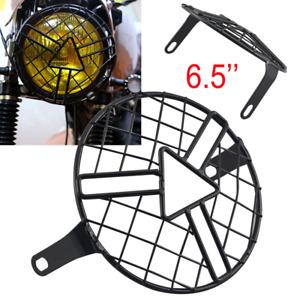 6.5'' Headlight Protector Cover Retro Grill for Harley Triumph Suzuki Kawasaki