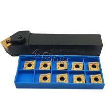 Lathe Turning Tool Holder Mcsnr 2020k12 10pc Carbide Insert Cnmg120408 Cnmg432