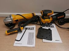 OFFER DEWALT DWE4206 115MM ANGLE GRINDER + DWE6411 PALM SANDER 240v