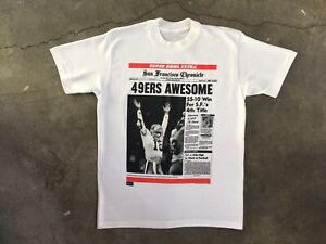 vintage t shirt 90s San Francisco 49ers Joe Montana Single Stitch Deadstock Rare