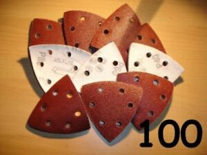 90mm SANDING SHEETS TRIANGLE DELTA DETAIL MOUSE PADS 40 60 80 120 240 GRIT