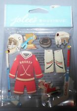 ICE HOCKEY Canada Canadian Puck Helmet Stick Skates Uniform Jolee's Stickers