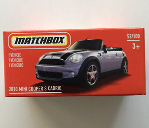 2021 MATCHBOX (Mix4) #52 - 2010 Mini Cooper S Cabrio (Pink) 1x Power Grab - New