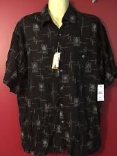 CAMPIA MODA Men's 100% rayon S/S Button up Shirt - Size Large - NWT $45