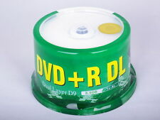 50 Pack Blank DVD+R DL D9 8.5GB 8X Dual Layer Printable A+ class Surface Sealed