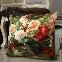 PROMOTION Decorative Velvet Pillow Cover Beauty Girl Double Sides Asian Lady