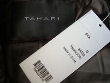 NWT TAHARI *EVA* Packable 90% Down Fill Long Coat Jacket With Own Bag Sz M