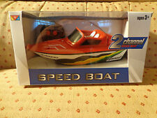 Radio Controlled Speed Boat 2 Channel Red 27Mhz 2013 Nib