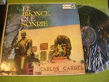 LP CARLOS GARDEL - El Bronce que Sonrie - odeon LDS 800 Industria Argentina