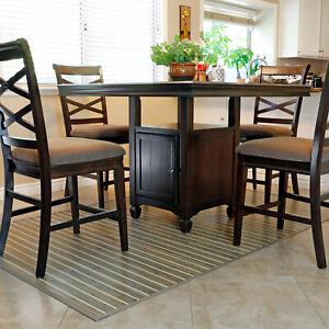 Bamboo 5' X 8' Floor Mat Area Rug, Rustic Olive Floor Runner Indoor Carpet