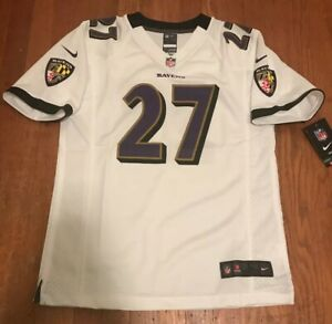 NWT Baltimore Ravens Nike #27 Ray Rice NFL White On Field Jersey YOUTH L 14/16