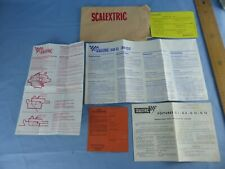 Ancien lot dépliants brochures SCALEXTRIC pour coffret 38 G 38 GT C1 C2 C12 C13