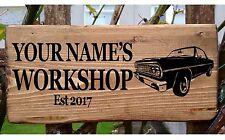 Personalised Name Man Cave Shed Garage Workshop Door Sign Plaque Wood Plate Art