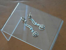 Beautiful Pair Of Sterling Silver Mackintosh Inspired Earrings 1.87g London
