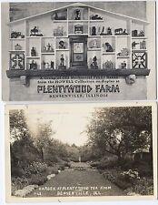 Bensenville Illinois Postcards Garden Plentywood Tea Room RPPC  Mechanical Banks