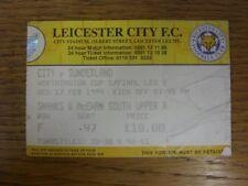 17/02/1999 Ticket: Football League Cup Semi-Final, Leicester City v Sunderland