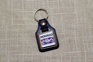 Austin Montego Keyring - Leatherette and Chrome Keytag