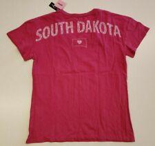 STATE OF MINE Women's Pink T-Shirt S Top Shirt Tee South Dakota Short Sleeve NWT