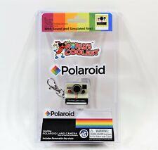 World's Smallest Coolest Polaroid Land Camera Keychain Rainbow Stripe