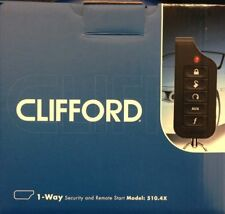 Clifford 510.4X / 5104 1-Way 5-Button Security & Remote Start System & FREE GIFT
