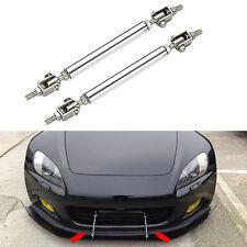 2Pc Adjustable Front Rear Bumper Lip Splitter Diffuser Strut Rod Tie Support Bar